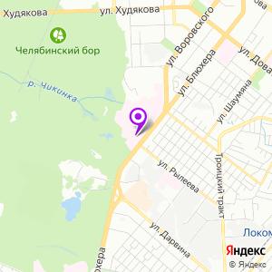 Челябинский областной клинический центр онкологии и ядерной медицины на карте
