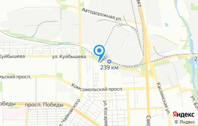 Местоположение на карте пункта техосмотра по адресу г Челябинск, ул Косарева, д 2