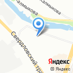 Кафе-закусочная на карте Челябинска