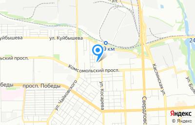 Местоположение на карте пункта техосмотра по адресу г Челябинск, ул Косарева, д 6