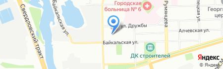 Детский сад №121 на карте Челябинска