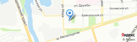 Юникс на карте Челябинска