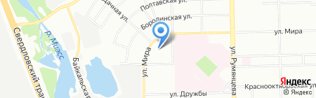 Автопорт Трак на карте Челябинска