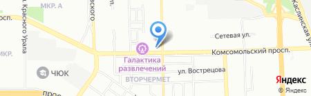 Гризли на карте Челябинска