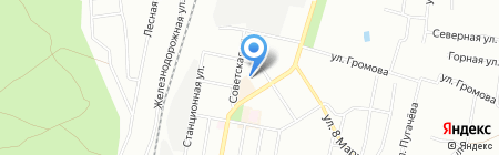 Локомотив на карте Челябинска