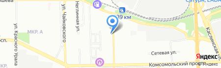 Эковата-Челябинск на карте Челябинска