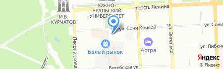 Манекен на карте Челябинска