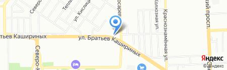 Настком на карте Челябинска