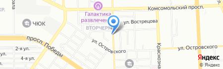 Василек на карте Челябинска