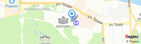 Челябинск на карте Челябинска