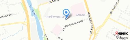 Детский сад №313 на карте Челябинска