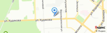 Аскона на карте Челябинска