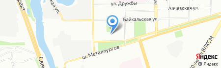 Перспектива на карте Челябинска