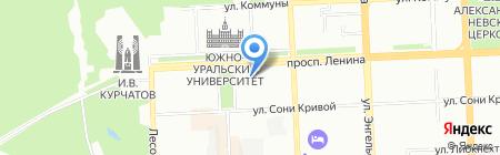 УралЭкспо-Интернешнл на карте Челябинска