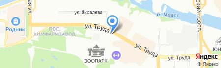 Урал-эксперт на карте Челябинска