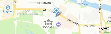 Контадор на карте Челябинска
