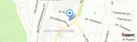Магазин кормов для животных на Октябрьской на карте Челябинска