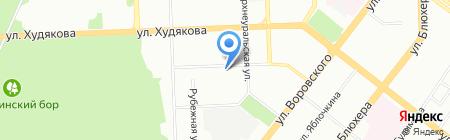 Апартамент на карте Челябинска