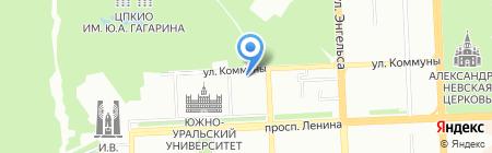 Строитель на карте Челябинска