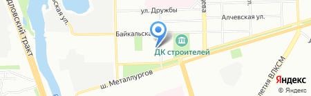 Мастерок на карте Челябинска