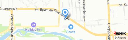 Автостраж на карте Челябинска