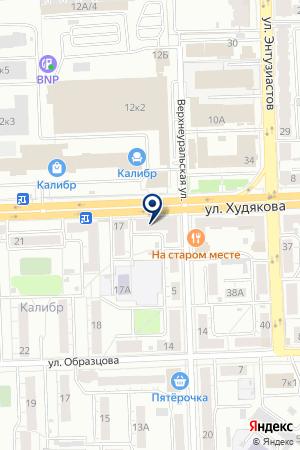 ПАРИКМАХЕРСКАЯ ЛИК на карте Челябинска