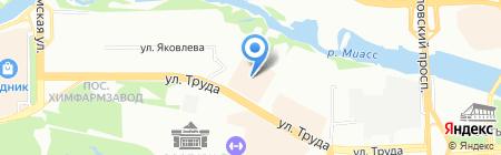 Царь-платок на карте Челябинска