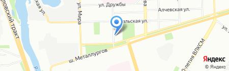 Виктория на карте Челябинска