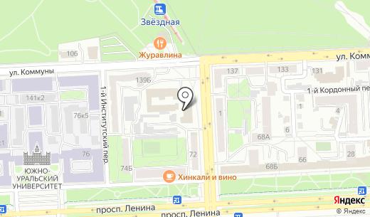 Матисс. Схема проезда в Челябинске
