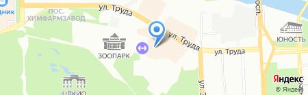Мозаик Холл на карте Челябинска