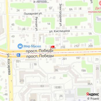 г. Челябинск, просп. Победы, на карта