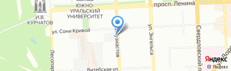 Стройтехника на карте Челябинска
