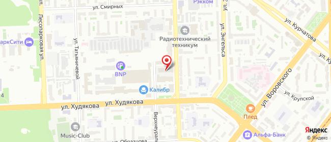 Карта расположения пункта доставки Халва в городе Челябинск