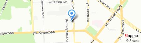 Форвард на карте Челябинска