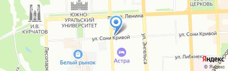 Вера на карте Челябинска