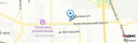 Челябстеклоцентр на карте Челябинска