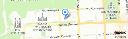 Дом книги на карте Челябинска