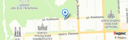 Паспарту на карте Челябинска