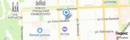 Мастерская по изготовлению ключей на карте Челябинска