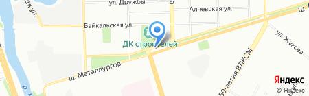 Сады России на карте Челябинска