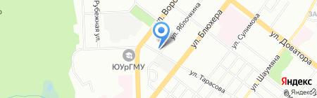 Активист на карте Челябинска