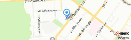 Пост на карте Челябинска