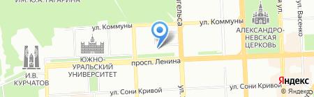 Амфора на карте Челябинска