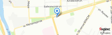 Левушка на карте Челябинска