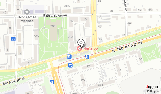 Гран. Схема проезда в Челябинске