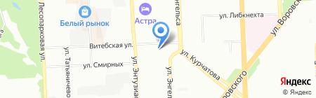 Уралэнергомаш на карте Челябинска