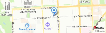 CyberCity на карте Челябинска