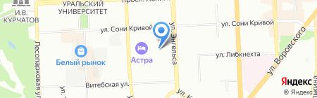 Уралэнергосервис на карте Челябинска