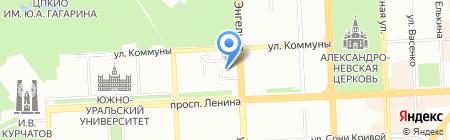 Прасковья на карте Челябинска