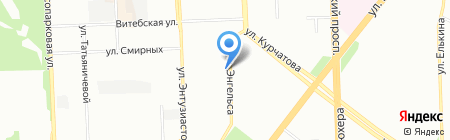 Заграница на карте Челябинска